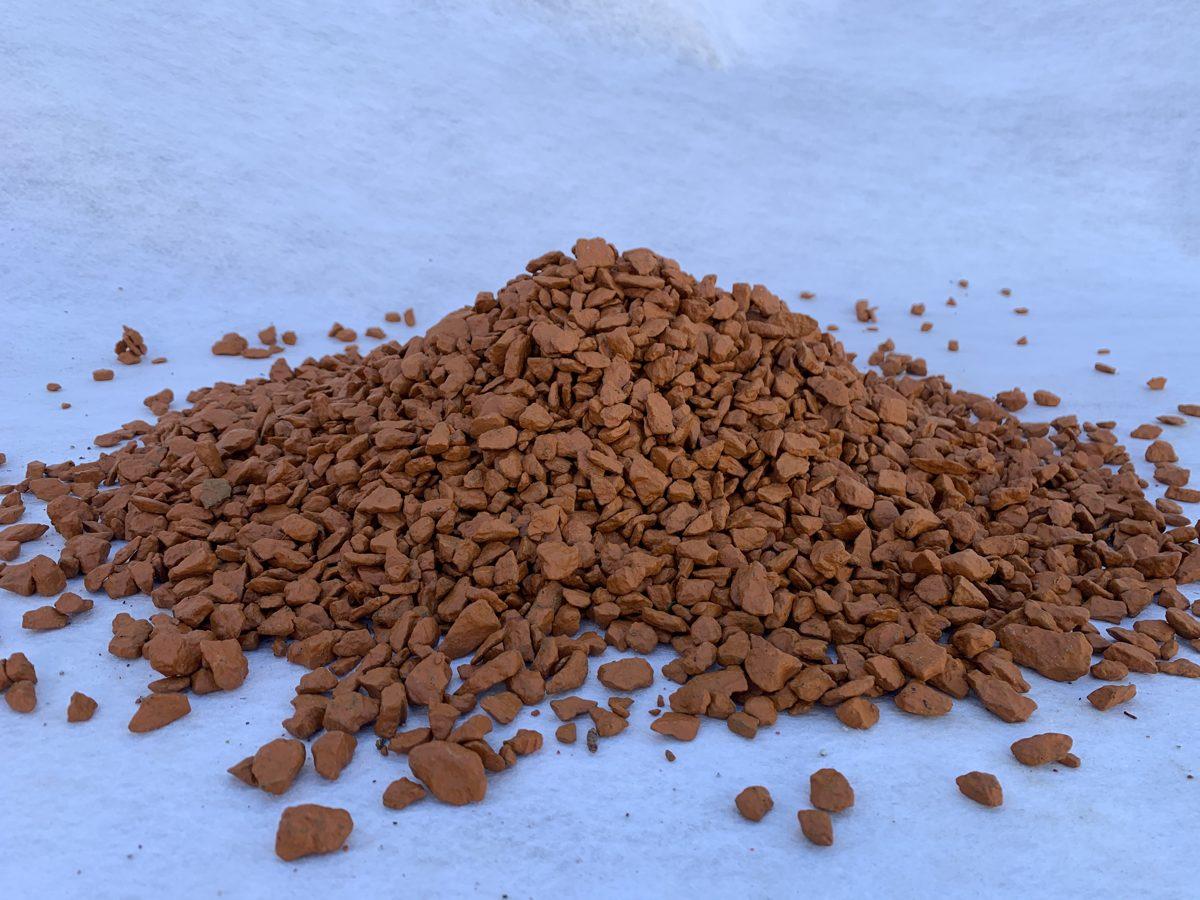 Oranžas granīta šķembas 10 kg