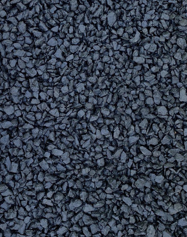 Чёрный крашеный щебень 10 кг