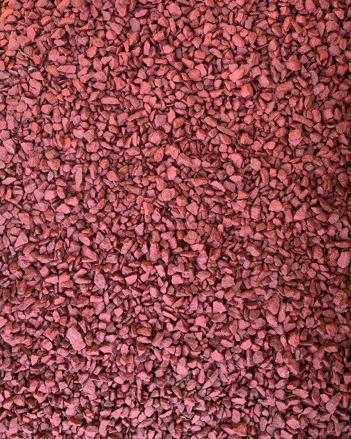 Красный крашеный щебень 10 кг