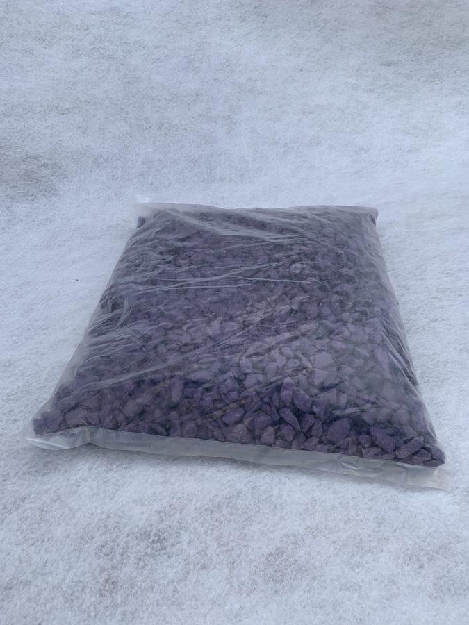 Фиолетовый крашеный щебень 10 кг